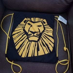 The Lion King Broadway Cinch Sack Drawstring NWT